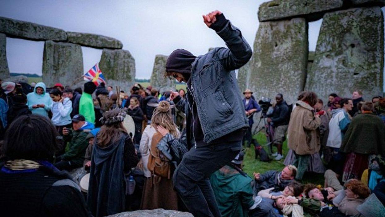 Hundreds of people celebrated the Summer Solstice at Stonehenge, UK