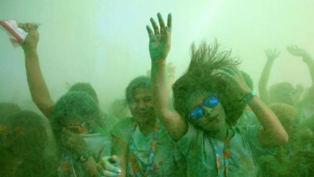 Hundreds of runners joined the third edition of the Manila Color Run held Sunday