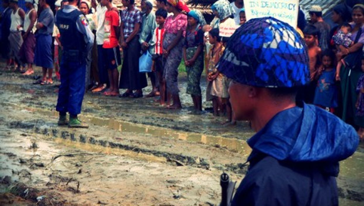 """Hundreds of thousands of Rohingya are constrained """"temporarily"""" in makeshift camps"""