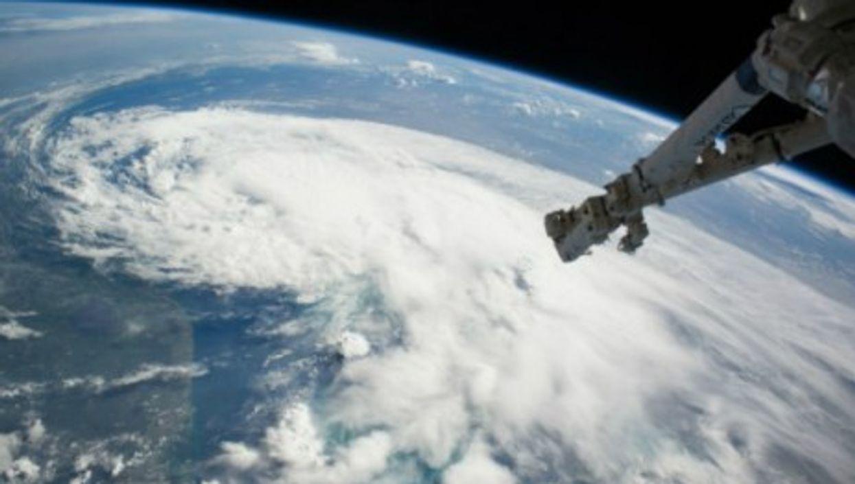Hurricane Arthur seen from space.