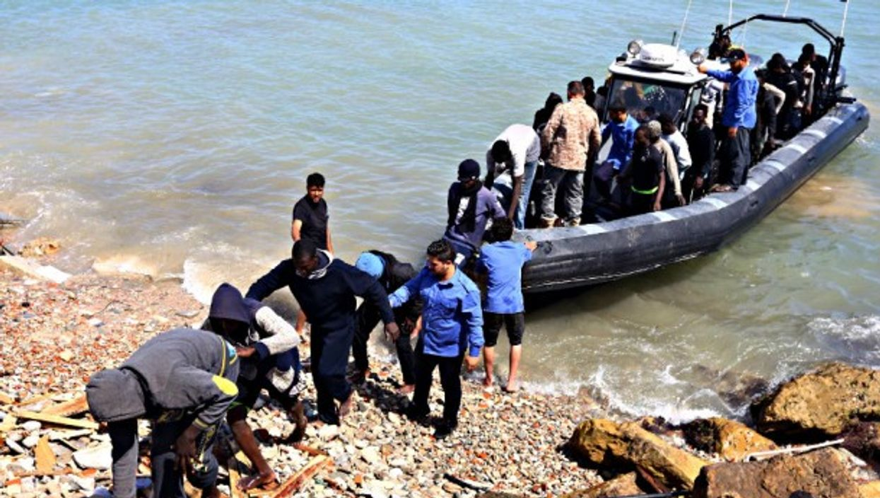 Illegal migrants rescued by Libyan coast guards