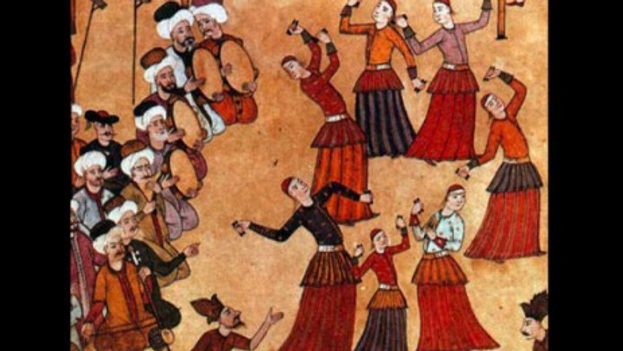 Image in Istanbul of an 18th century circumcision ceremony of Sultan Ahmed III's sons.