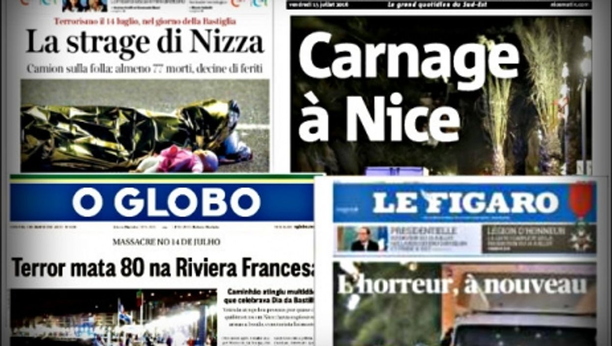 Nice Terror: Newspaper Front Pages From France And The World
