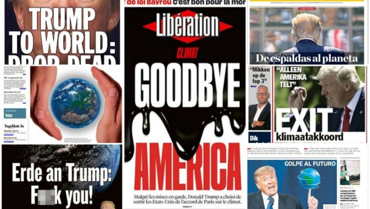 Trump Exits Paris Climate Deal, 24 Front Pages From Around The World