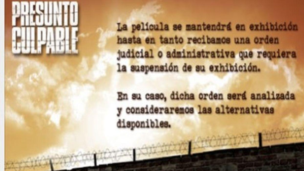 Presumed Guilty: Mexico Bans Film About Flawed Legal System