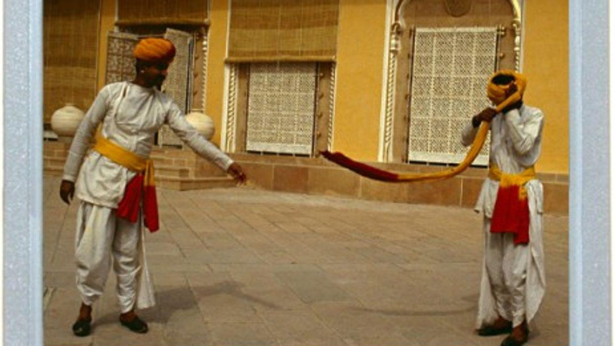 Turban Tying In Rajasthan