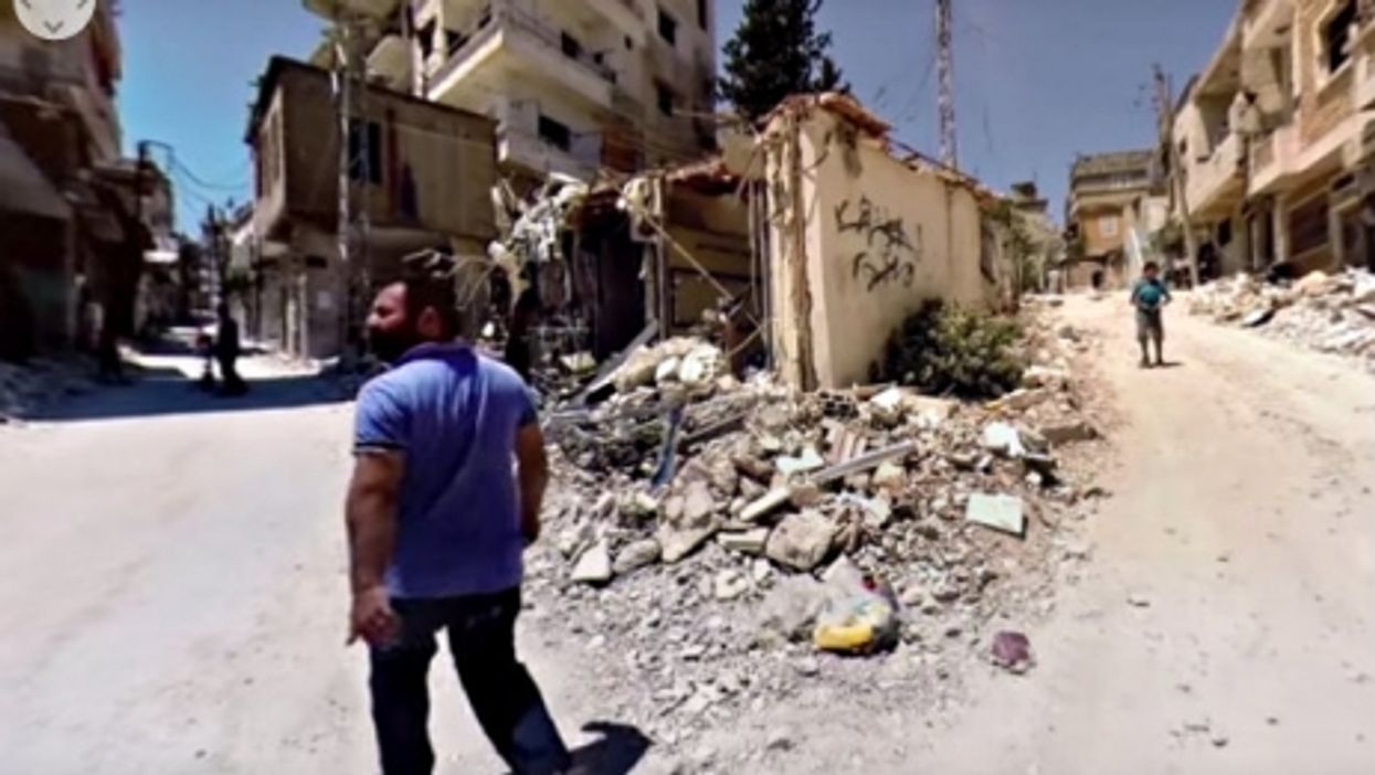 360° Virtual Reality Video Gives Brutal New View Of Syrian War Destruction