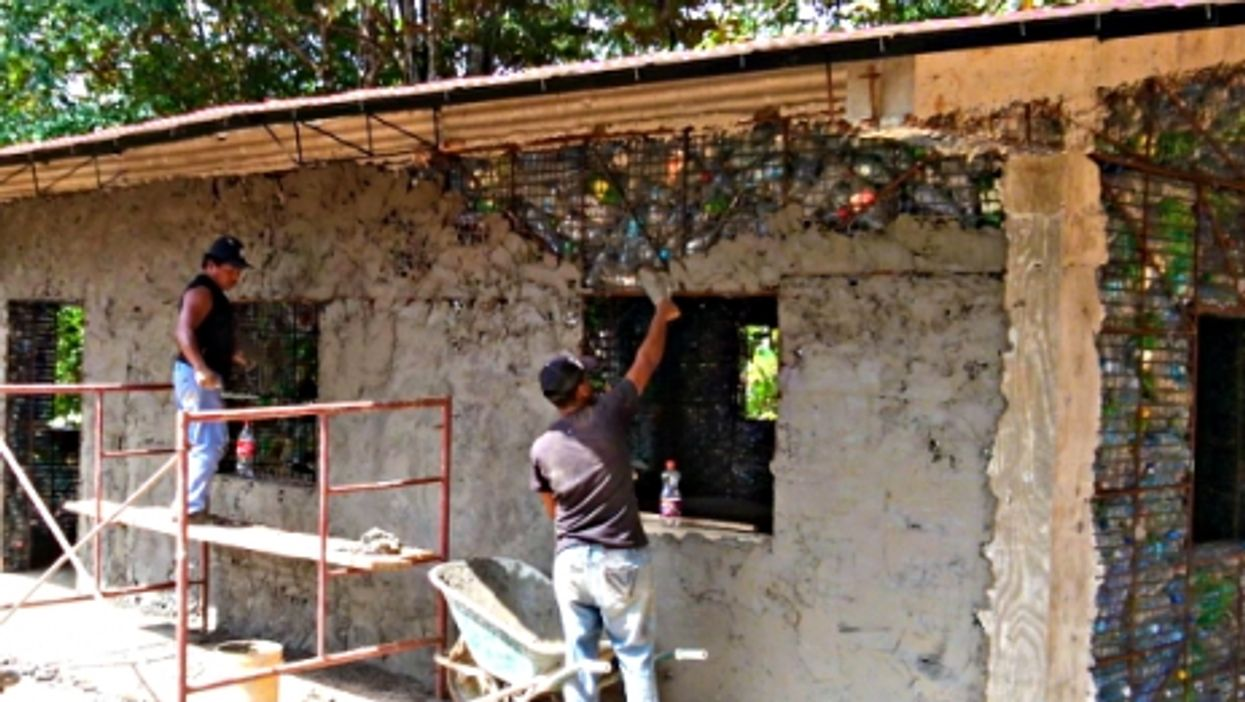 Building With Bottles On A Panamanian Island