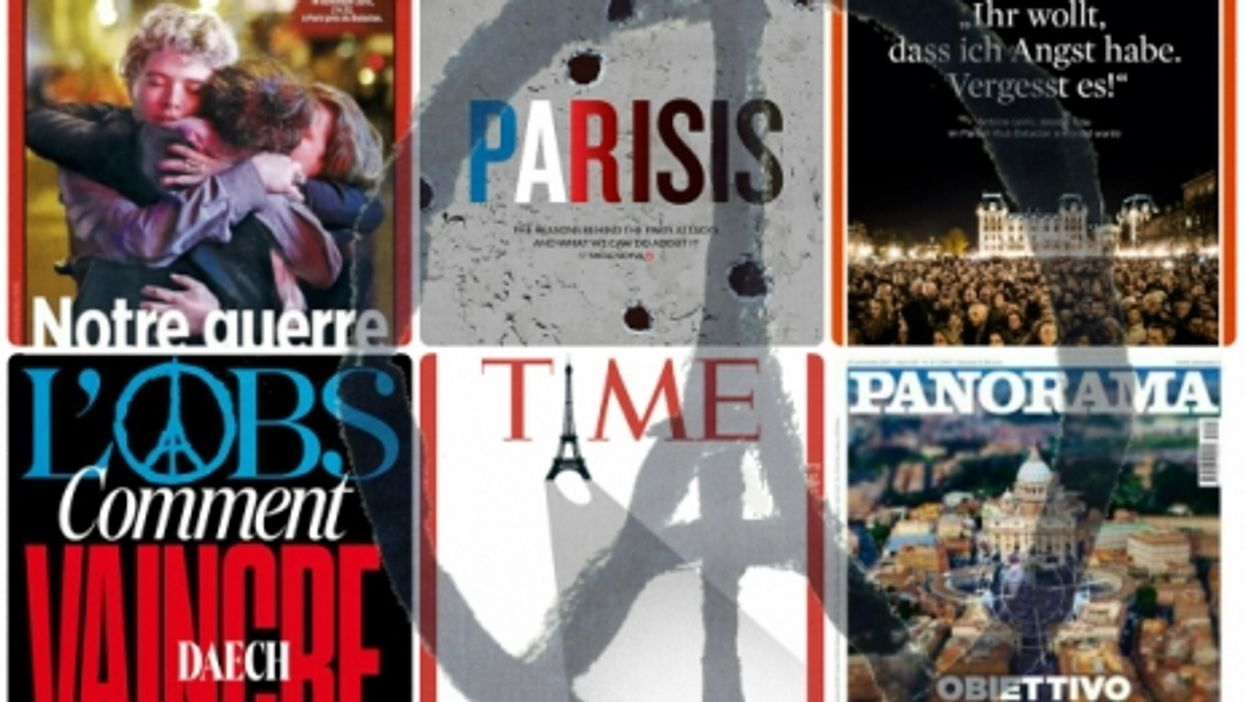French, World Magazine Covers One Week After Paris Attacks