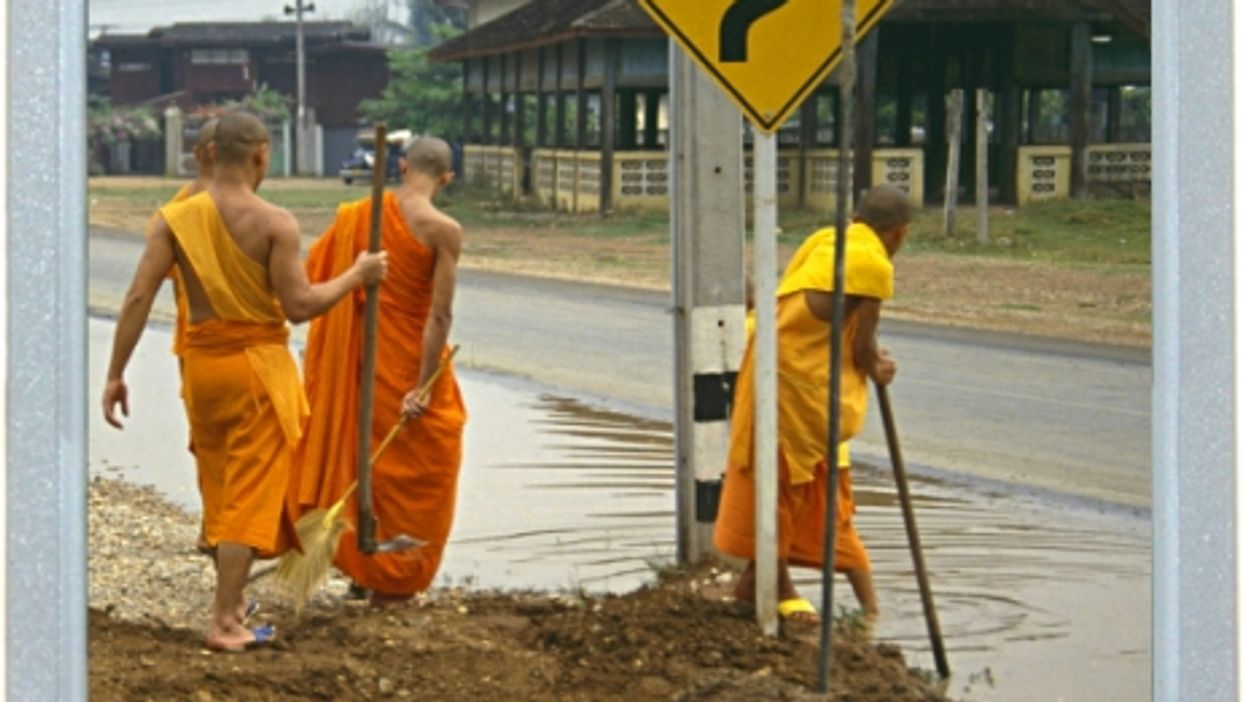 How Did The Monk Cross The Road?