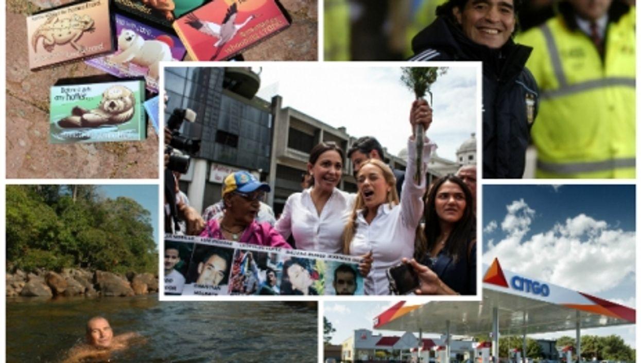Take 5 Venezuela: Prisoner Wives, Cheap Gas, Maduro On Maradona