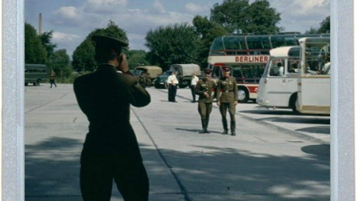 Soviet Soldiers Playing Tourist