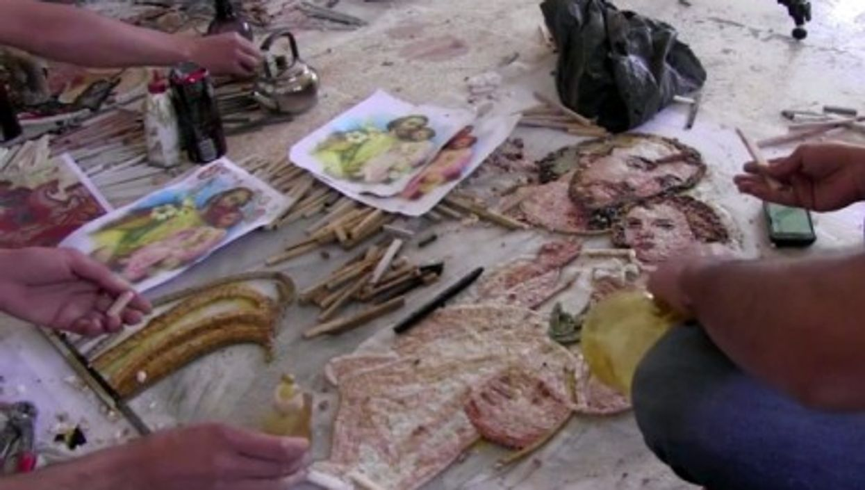 Even In Wartime, Syrians Hold Tight To Ancient Mosaic Craft