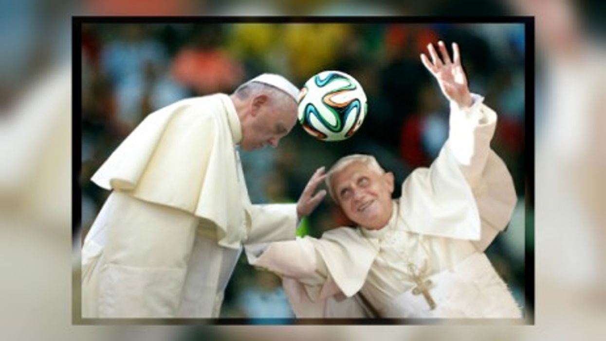 World Cup Battle Of The Popes