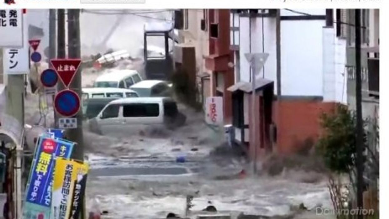 New Dramatic Footage Of Japanese Tsunami