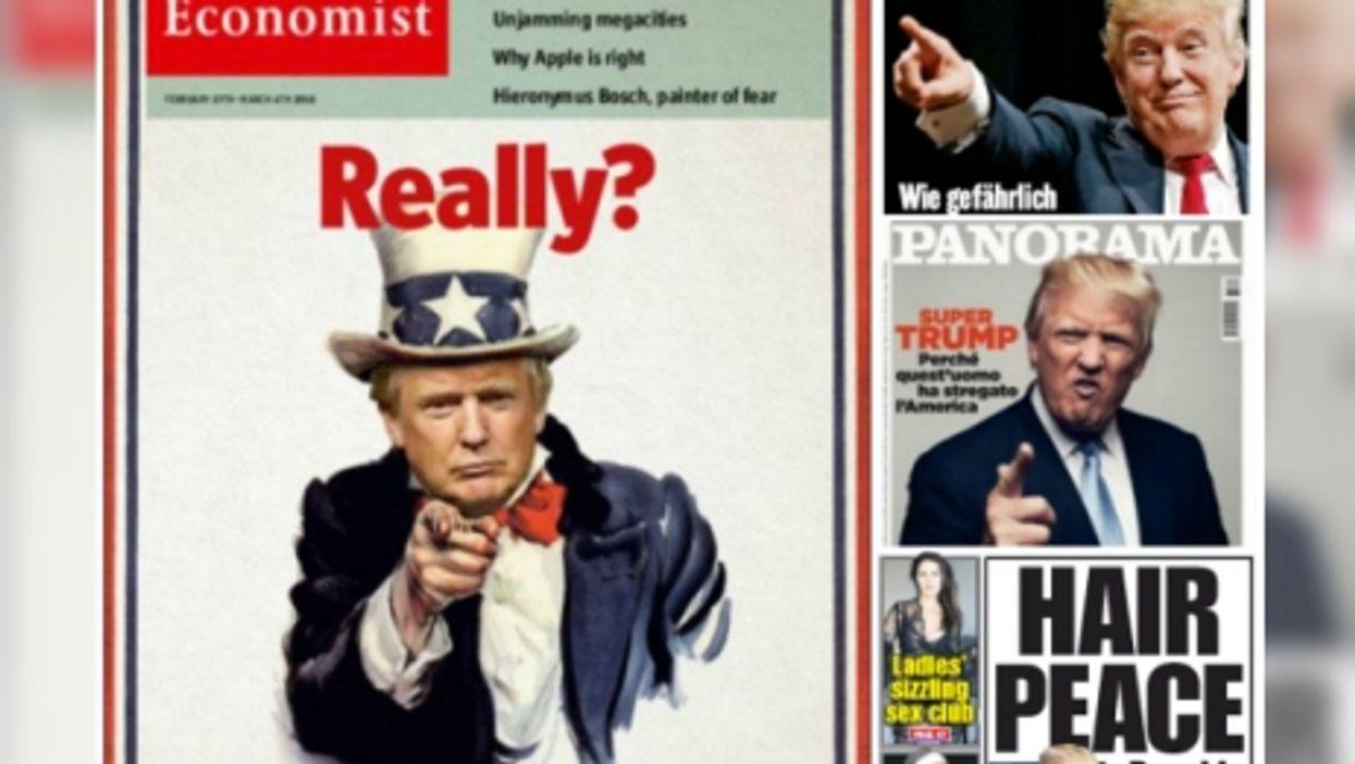 Donald Trump, International Media Darling-Devil