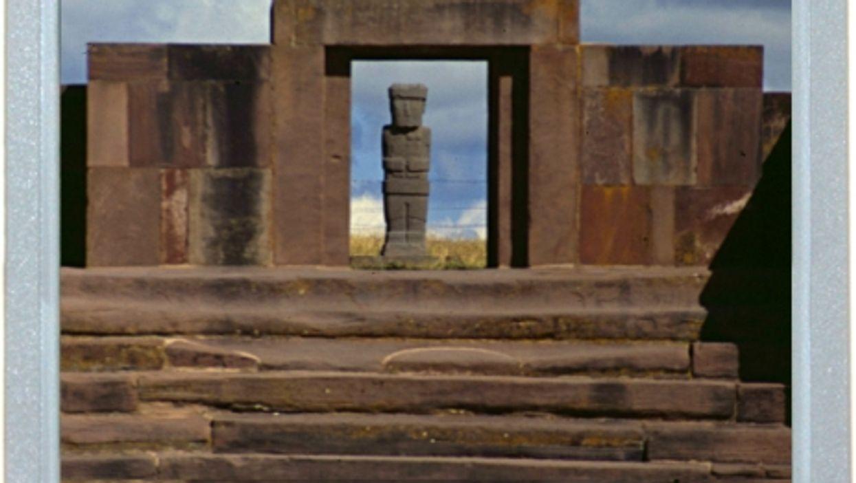 Stone Giant In Sun Door