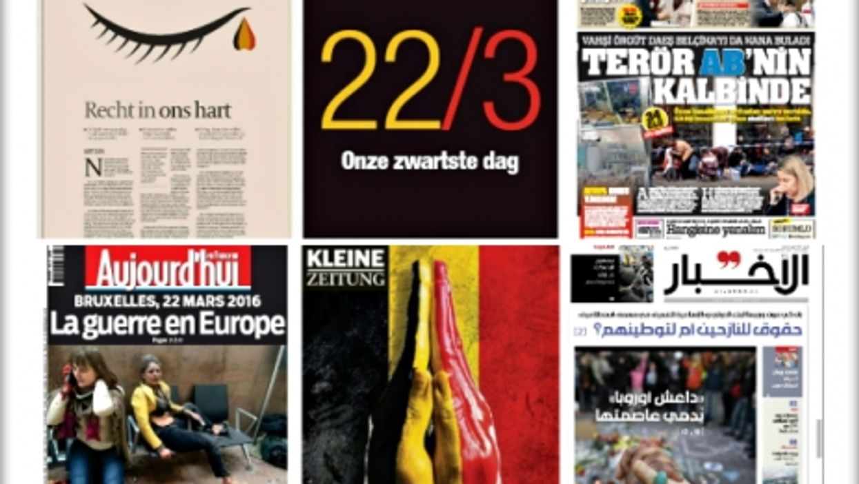 Terror In Brussels, 21 World Front Pages