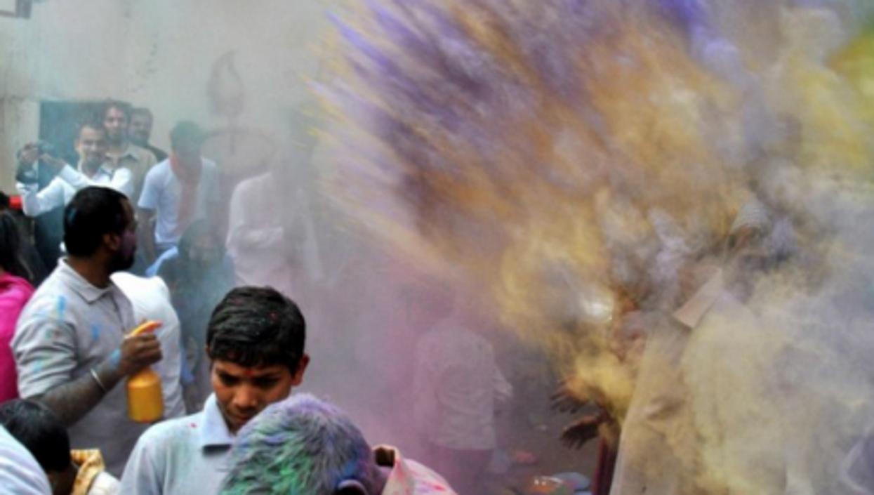 Snapshot Of The World: Happy Holi, New Pound, More