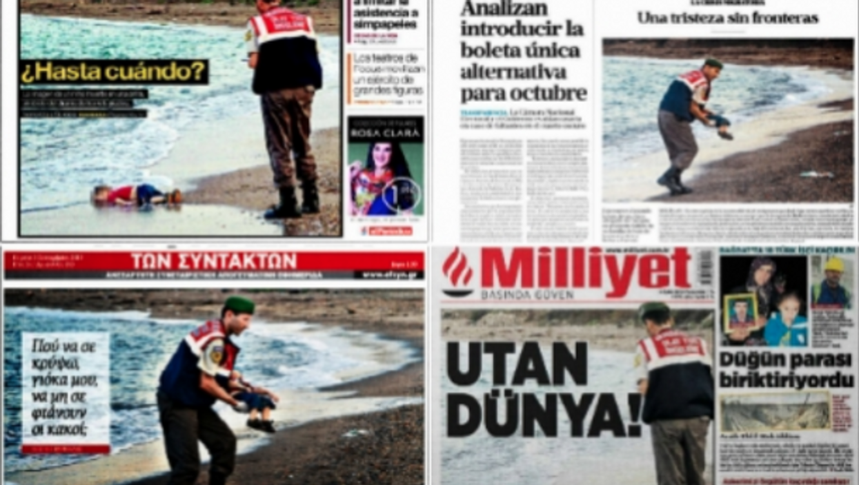 How Newspapers Featured Shocking Photos Of Drowned Refugee Boy