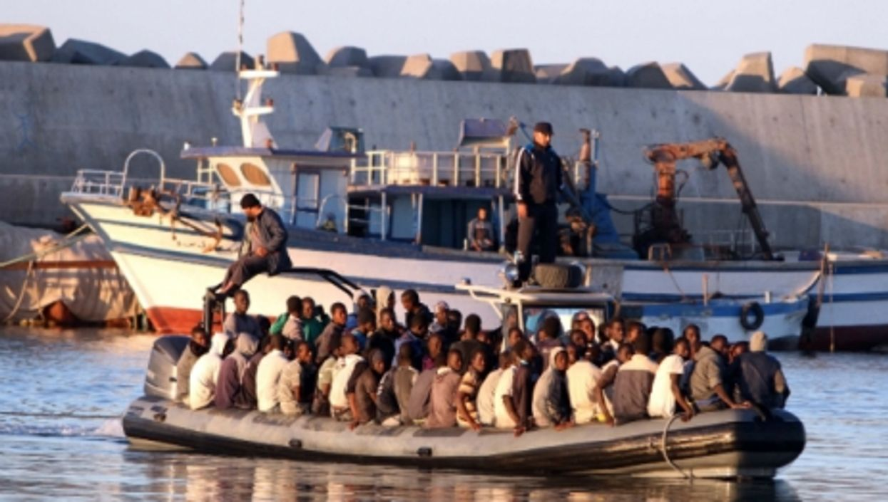 Immigrants being rescued in Libya