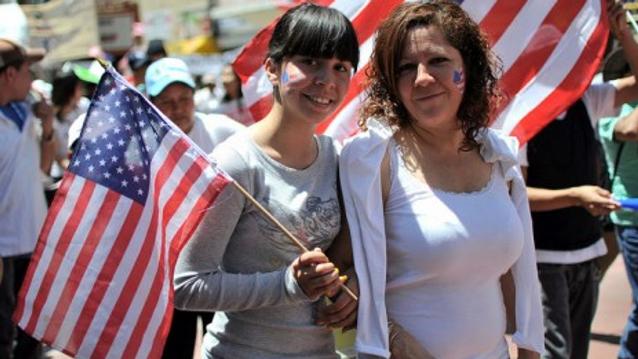 Immigration rally in Los Angeles