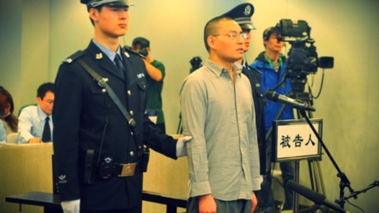 In a Beijing court in April.