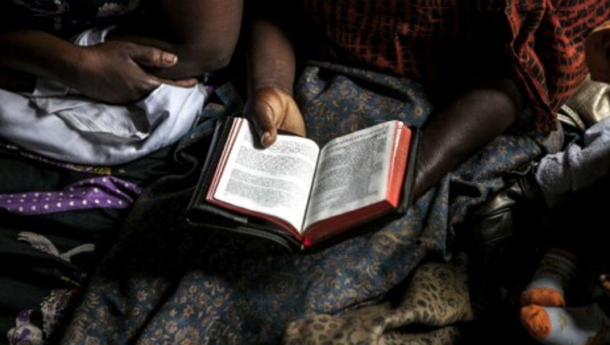 In a church in Goma