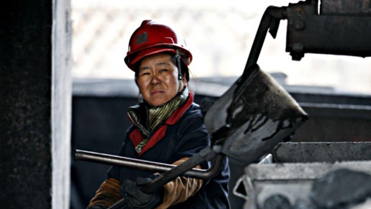 In a coal mine in Anhui province, China