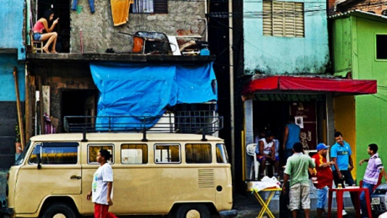 In a favela in Sao Paulo