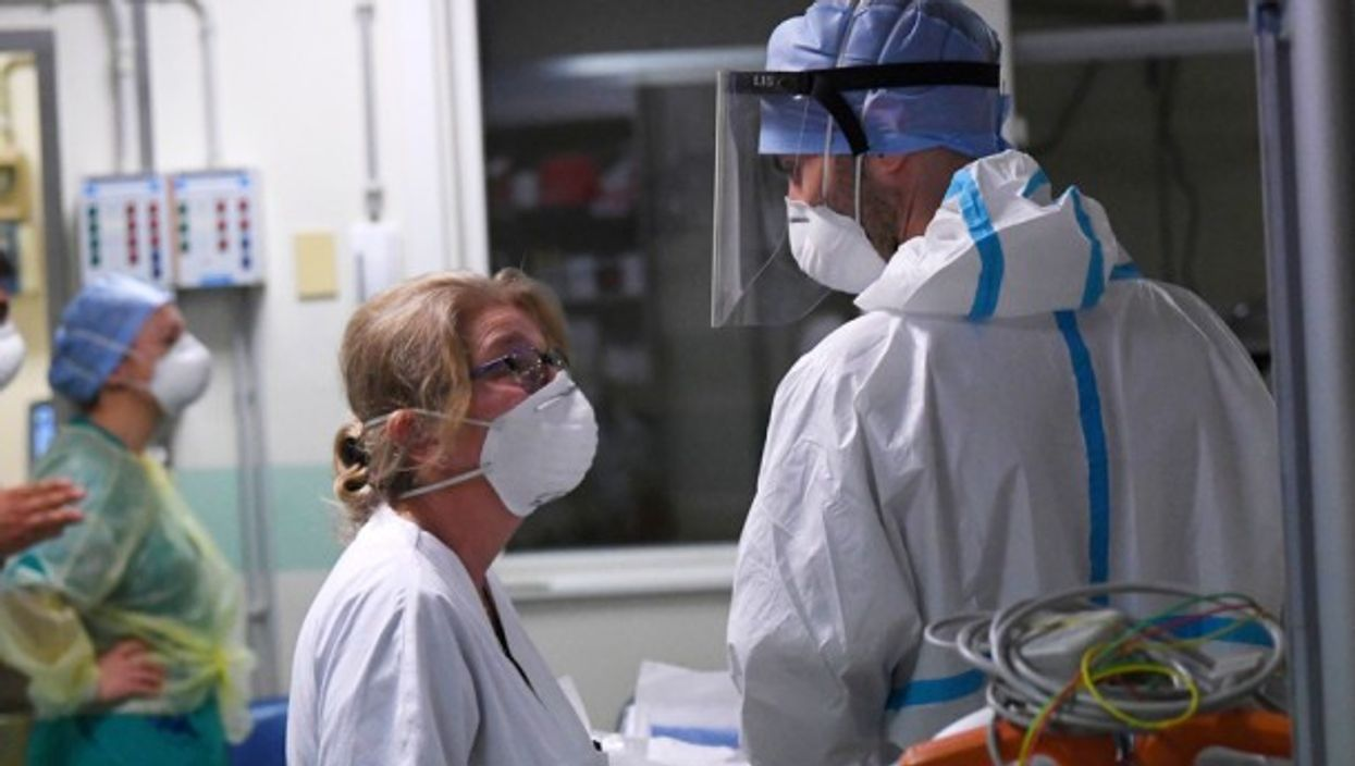 In a intensive care unit in a hospital, Bologna, Italy