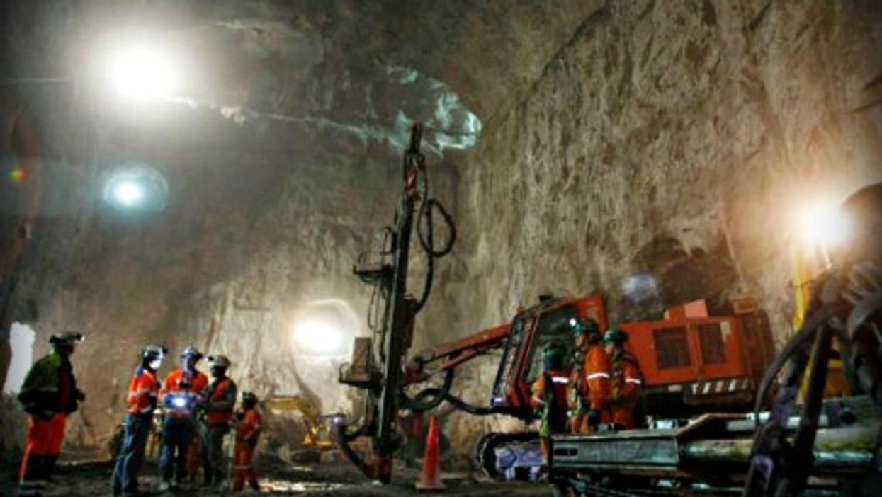 In a mine in Chubut, Argentina