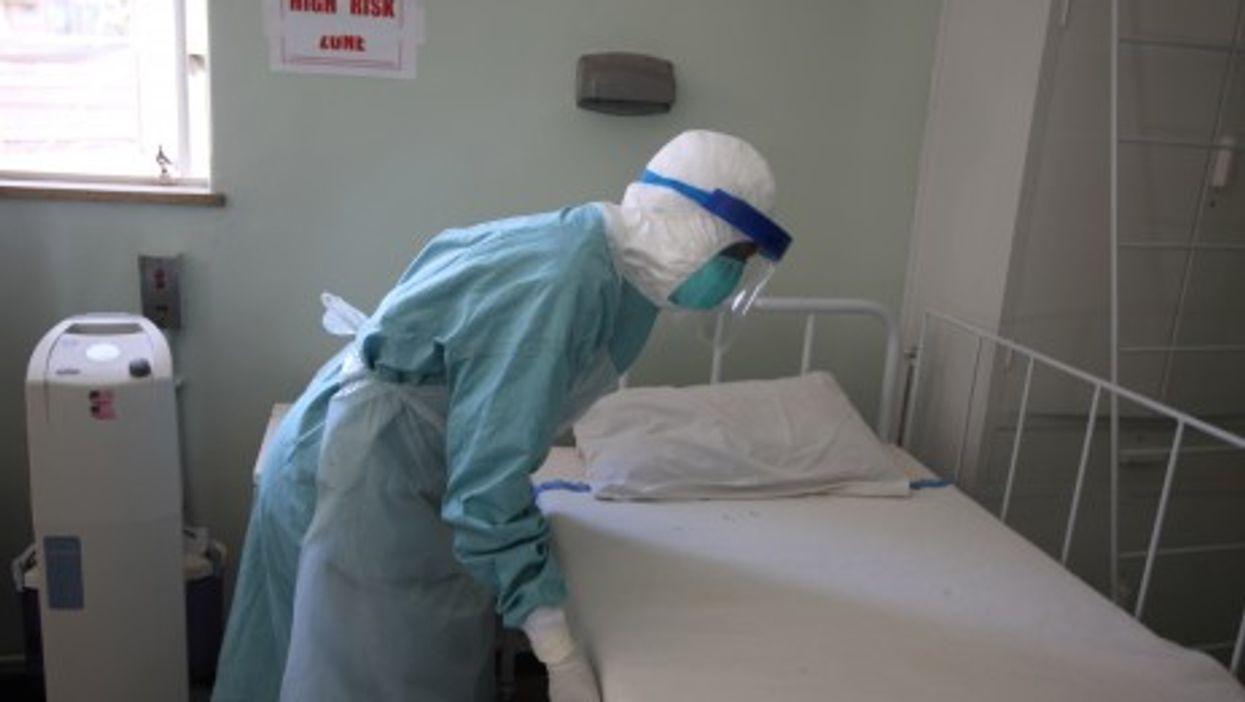 In a quarantine center