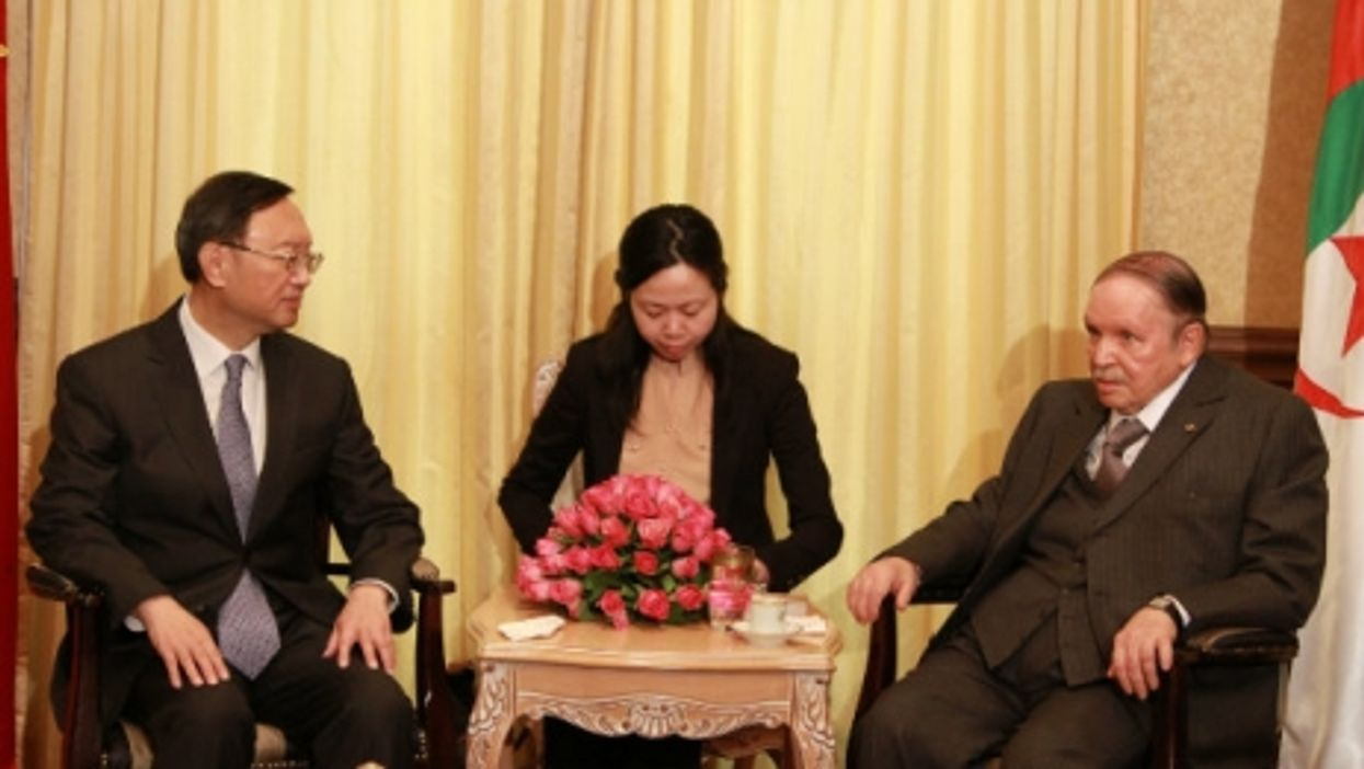 In a rare appearance, Algerian President Abdelaziz Bouteflika meeting last February with Chinese State Councilor Yang Jiechi.