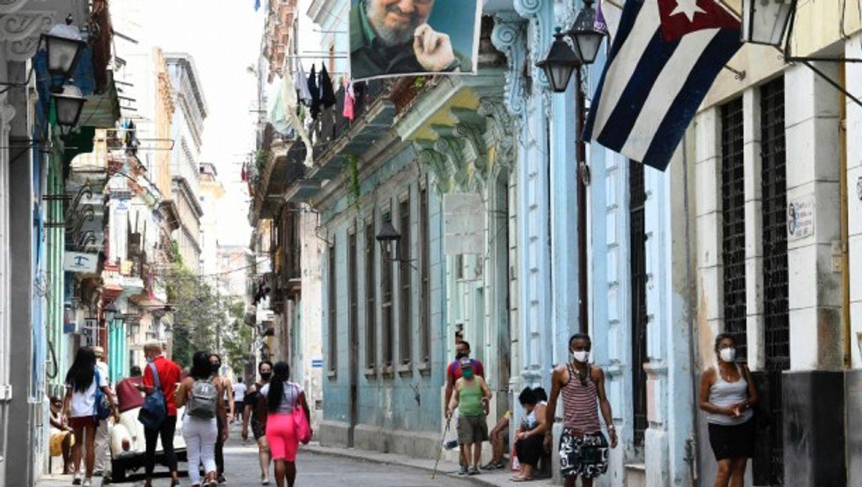 In a street in Havana, Cuba
