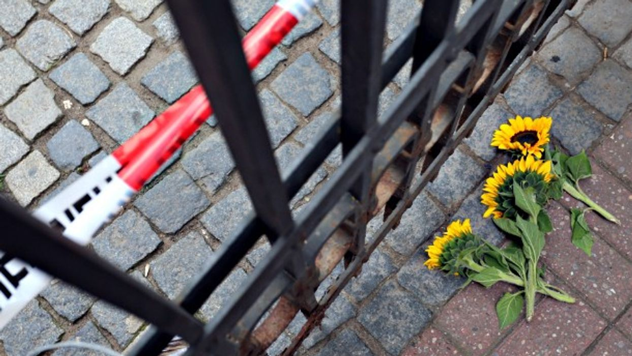 In Ansbach, Germany. Flowers for victims, not terrorists ...