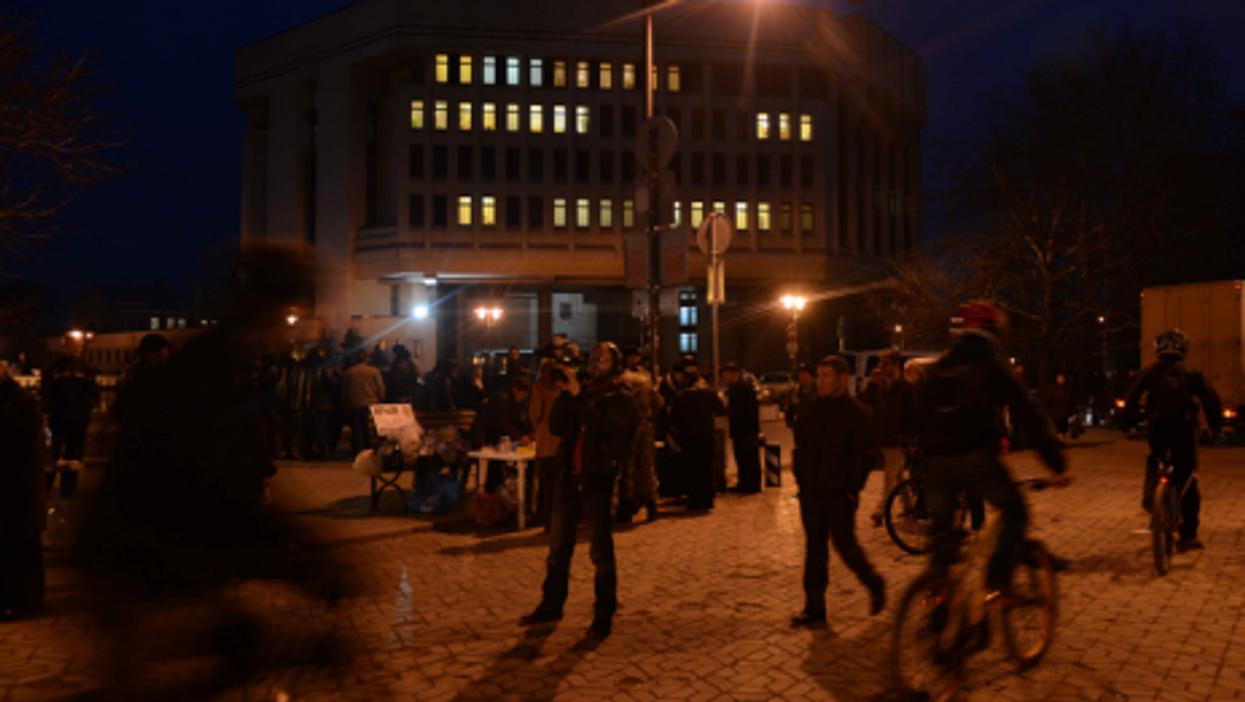 In downtown Simferopol
