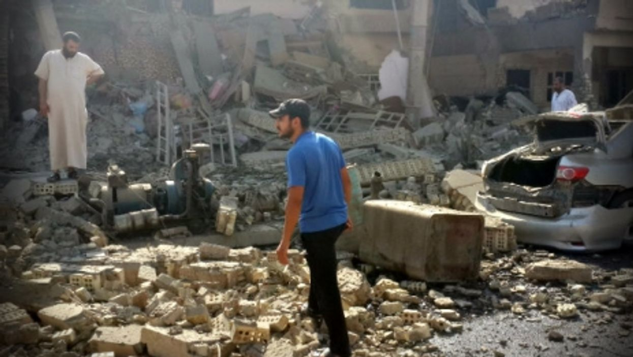 In Fallujah, Iraq in July