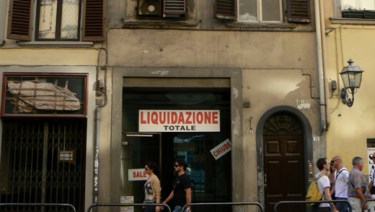 In Florence, everything must go (Curran Kelleher)