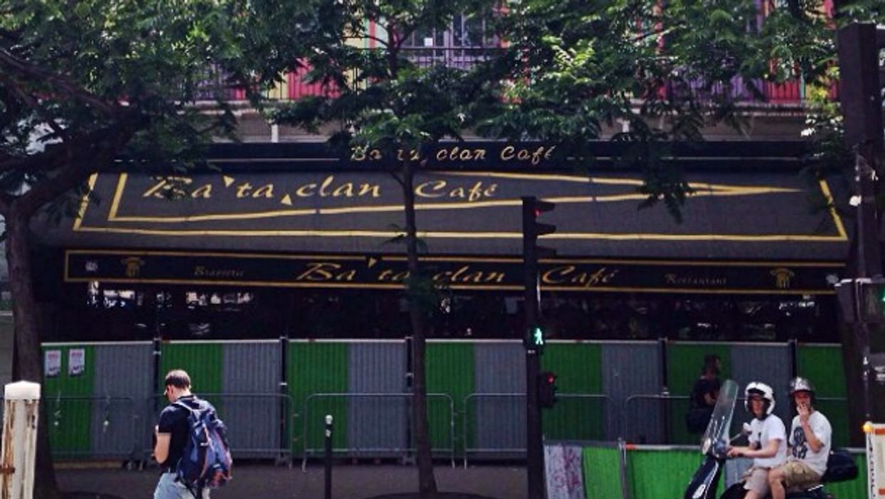 In front of the Bataclan concert hall