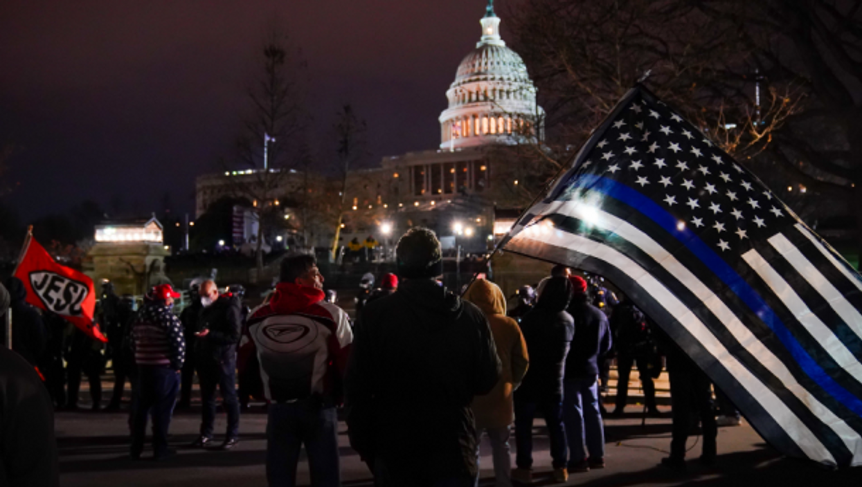 In front of the U.S. Capitol on Jan. 6