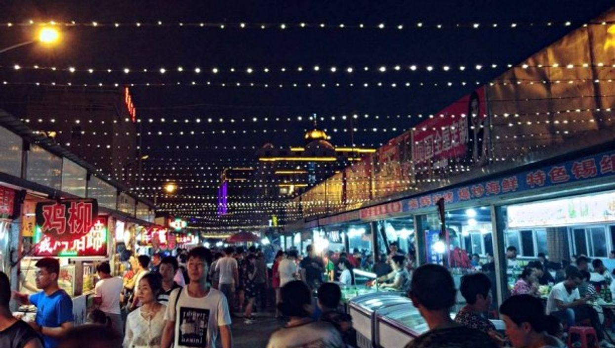 In Hunchun's fish market