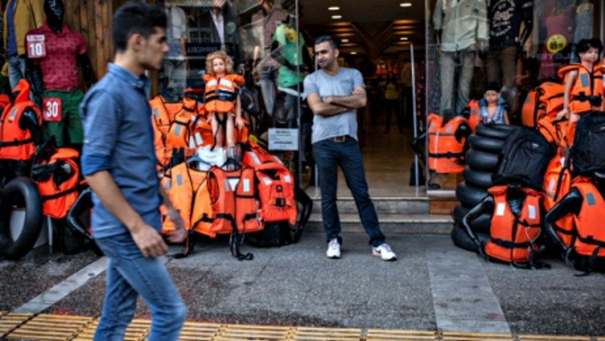 In Izmir, where life jackets have replaced bikinis and pareos