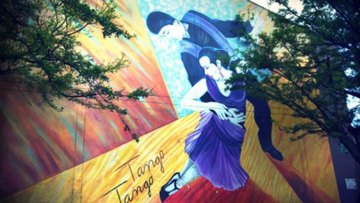 In Medellin: Tango pride on the wall