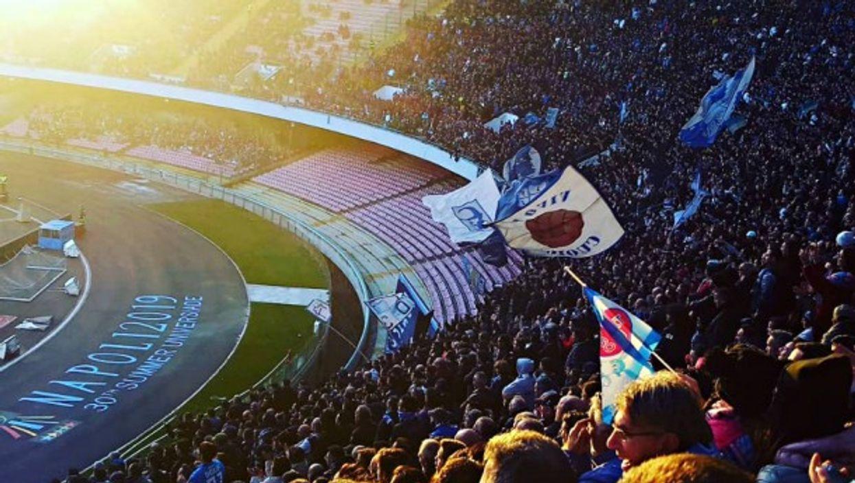 In Naples' San Paolo stadium