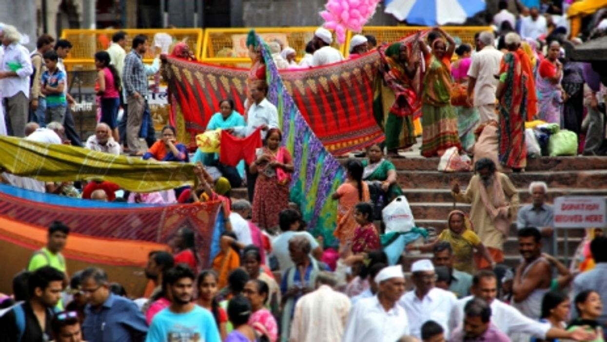 In Nashik during the Hindu Kumbh Mela pilgrimage