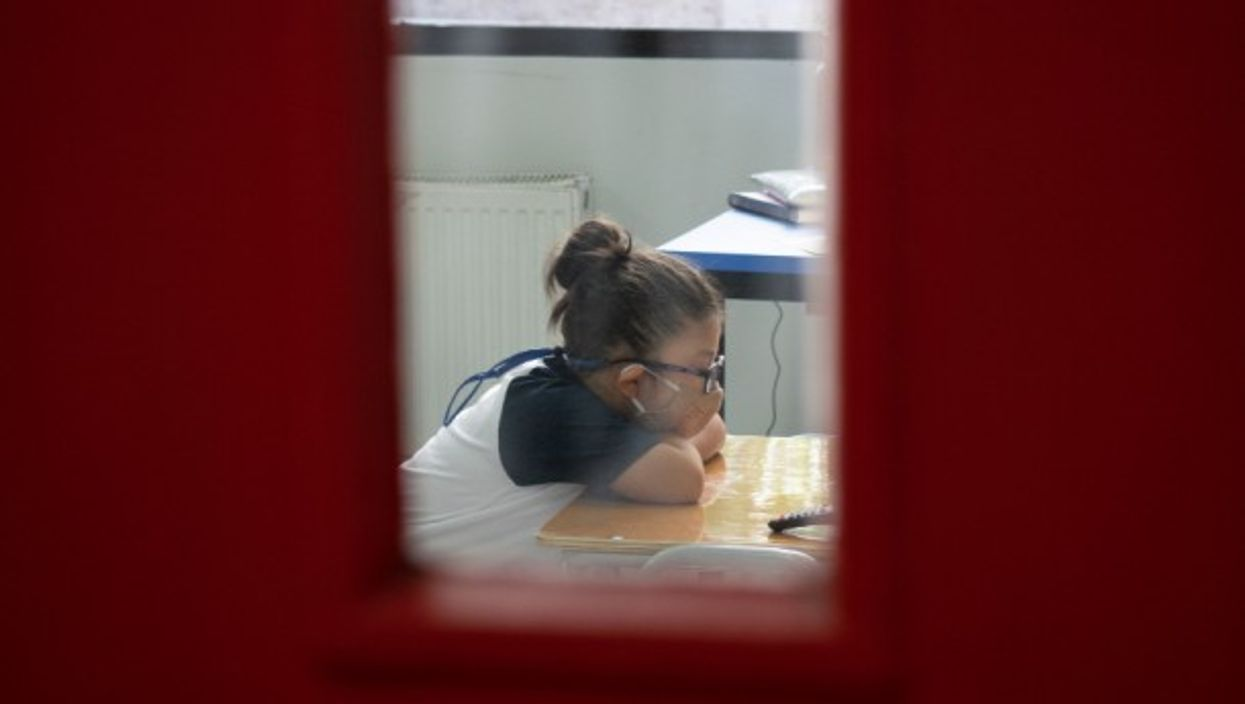 In-person classes have resumed in Chile after more than a year of virtual lessons.