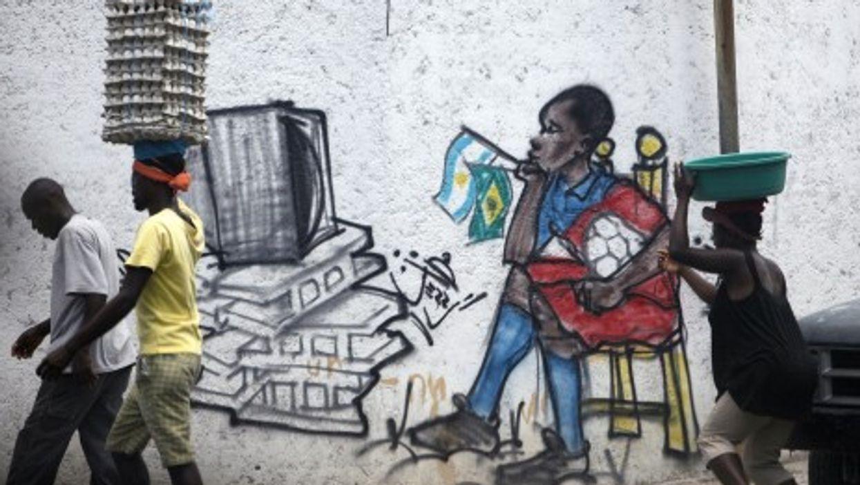 In Port-Au-Prince, Haiti