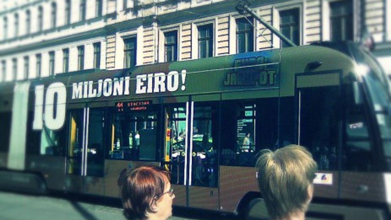 In Riga, catching the euri tram
