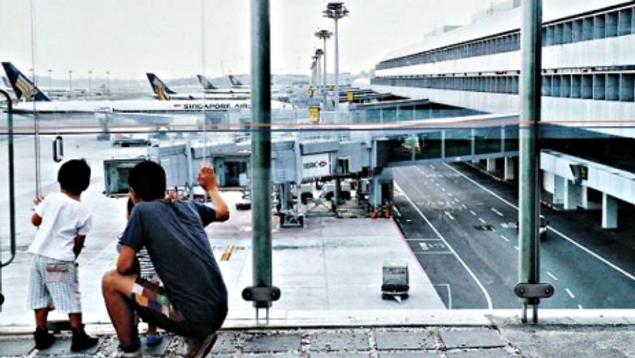In Singapore's Changi airport